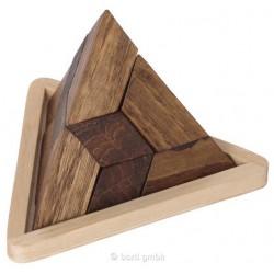 Pyramide en bois, 5 pièces