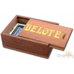 COFFRET BELOTE EN SIPO