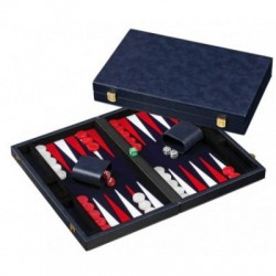 Backgammon bleu velours