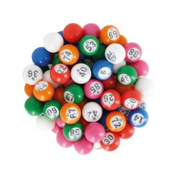 SACHET 90 BOULES NUMEROTEES