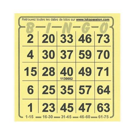 Cartons Bingo 1000 Au Tapis Vert