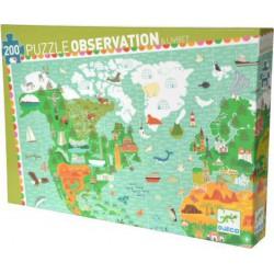 Puzzle d'Observation : Tour du Monde