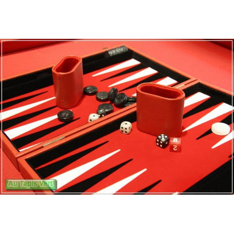 Backgammon rouge PM