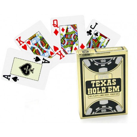 Cartes poker Texas Hold'em noir