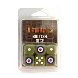 Tanks - Set de dés Britanniques