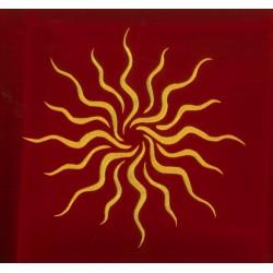 Tapis soleil Ésotérique rouge