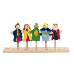 Marionnettes à doigt roi des grenouilles
